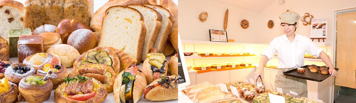 写真:さつまいも焼酎モロミを用いて、香ばしくソフトな美味しいパンができました。