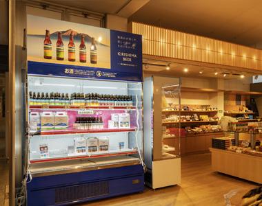 写真:焼酎の無料試飲コーナー